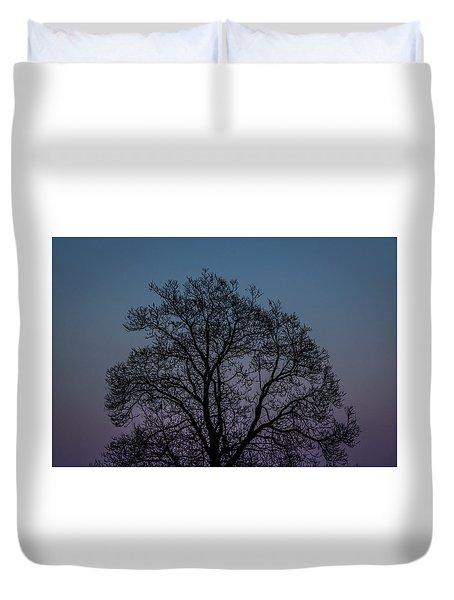 Colorful Subtle Silhouette Duvet Cover