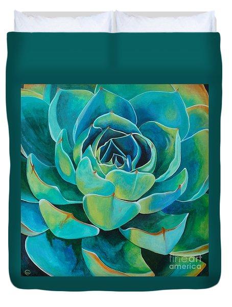 Colorful Succulent Duvet Cover