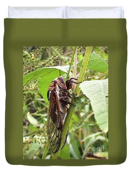 Colorful Summer Cicada Duvet Cover