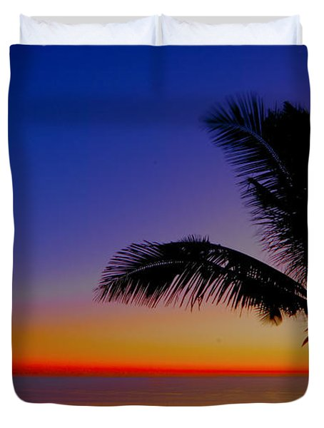 Duvet Cover featuring the photograph Colorful Sunrise by Don Durfee