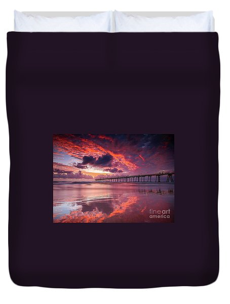 Colorful Sunrise Duvet Cover