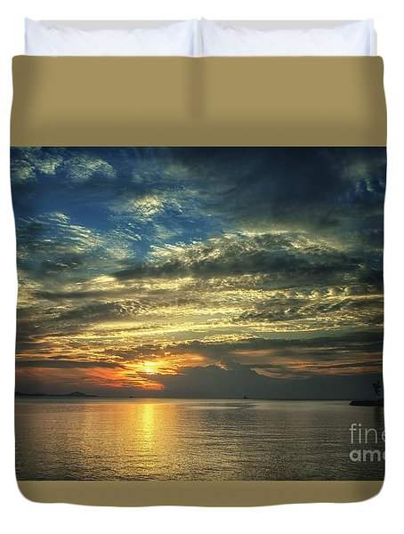 Colorful Sunset Duvet Cover by Michelle Meenawong