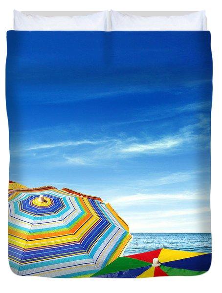 Colorful Sunshades Duvet Cover by Carlos Caetano
