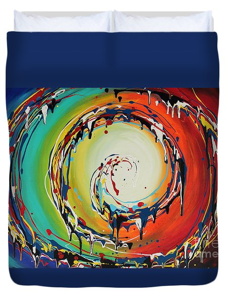 Colorful Swirls Duvet Cover