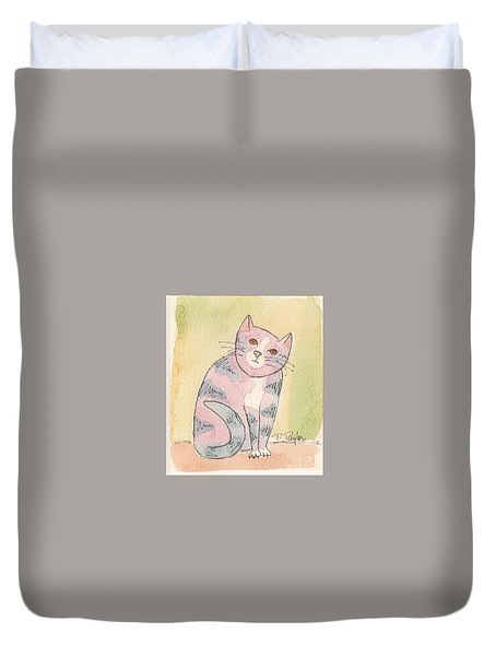 Colorful Tabby Duvet Cover