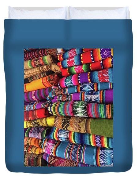 Colorful Tablecloths Duvet Cover