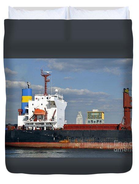 Colorful Tanker Duvet Cover