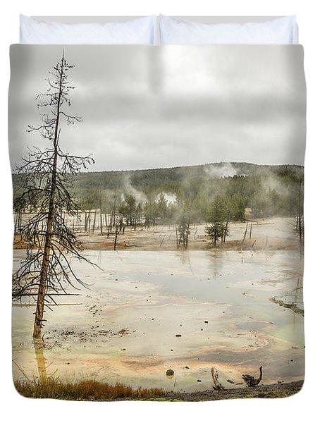 Colorful Thermal Pool Duvet Cover