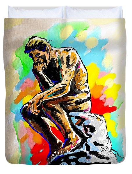Colorful Thinker Duvet Cover