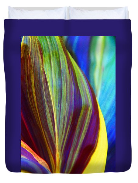 Colorful Ti Leaves Duvet Cover