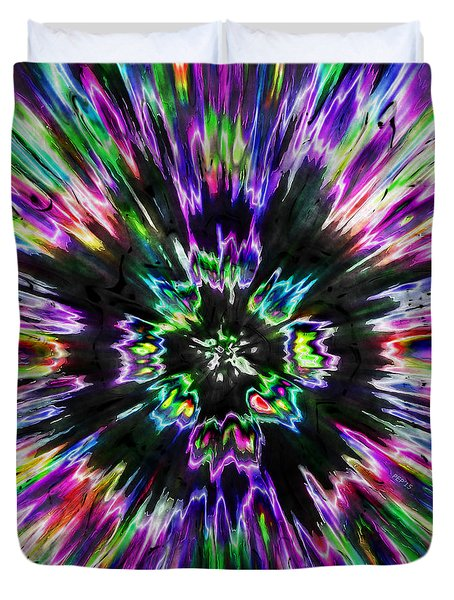 Colorful Tie Dye Abstract Duvet Cover