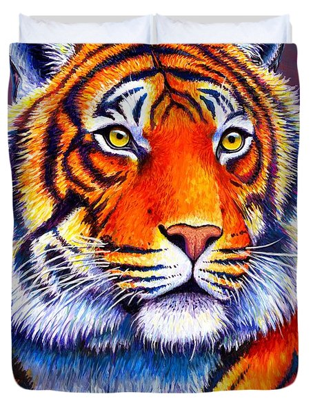 Fiery Beauty - Colorful Bengal Tiger Duvet Cover