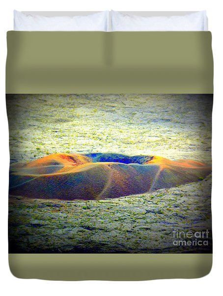 Colorful Volcanic Ash Duvet Cover