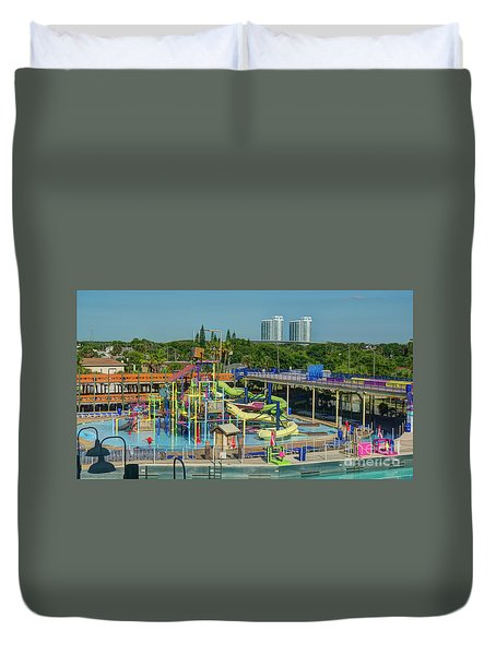Colorful Water Park Duvet Cover