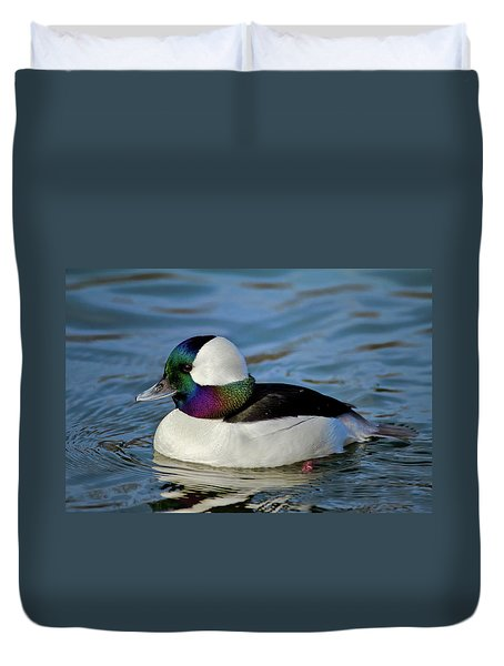 Colorful Waterfowl Duvet Cover