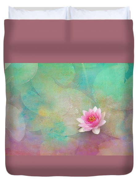 Colorful Waterlily Duvet Cover by Carolyn Dalessandro