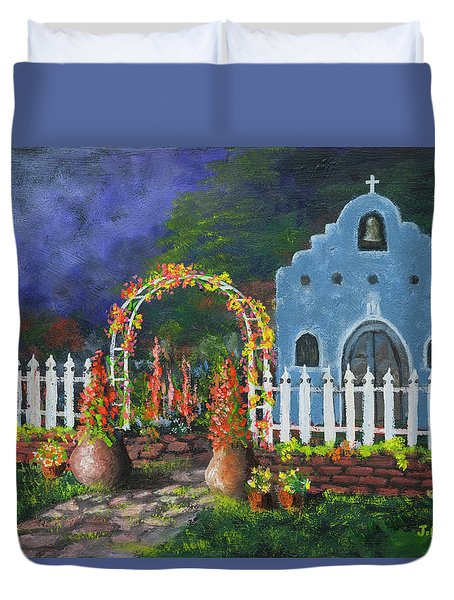 Colorful Welcome Duvet Cover by Jerry McElroy