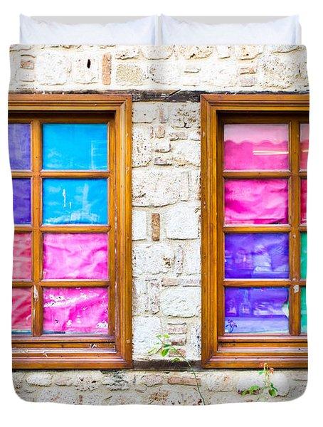 Colorful Windows Duvet Cover