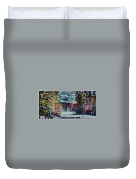 Duvet Cover featuring the photograph Colorful Winter Wonderland by David Patterson