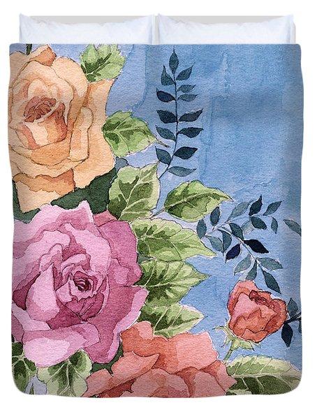Colorfull Roses Duvet Cover