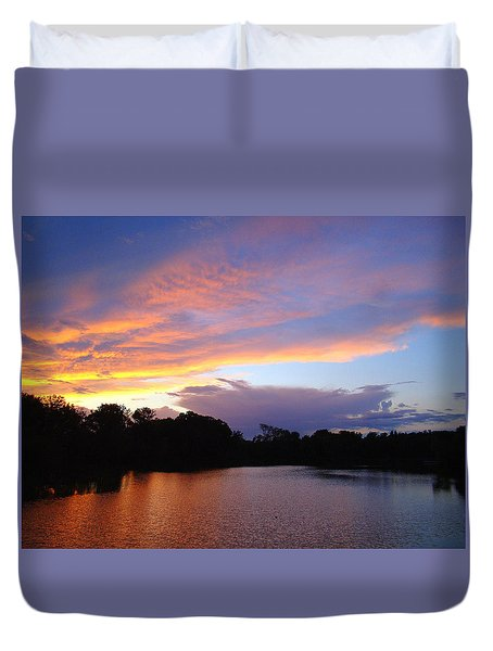 Duvet Cover featuring the photograph Coloring My World by J R Seymour