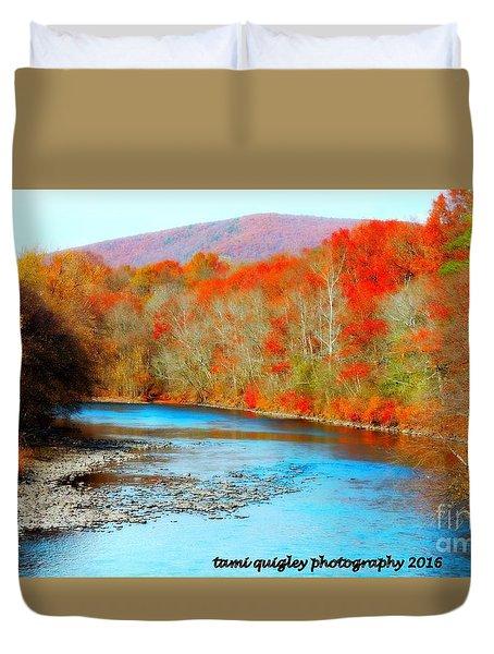 Coloring The Kittatiny Duvet Cover