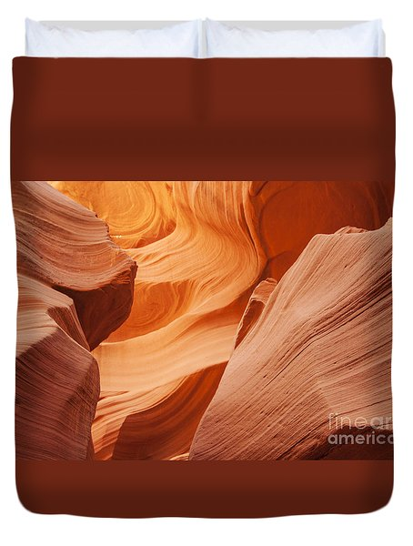 Duvet Cover featuring the photograph Colors Abound In The Canyon by Ruth Jolly