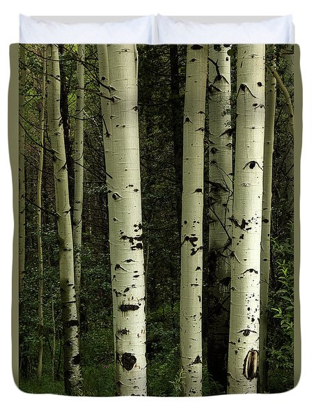 Duvet Cover featuring the photograph Colors And Texture Of A Forest Portrait by James BO Insogna