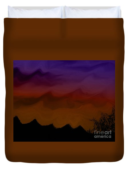 Colors At Dusk Duvet Cover