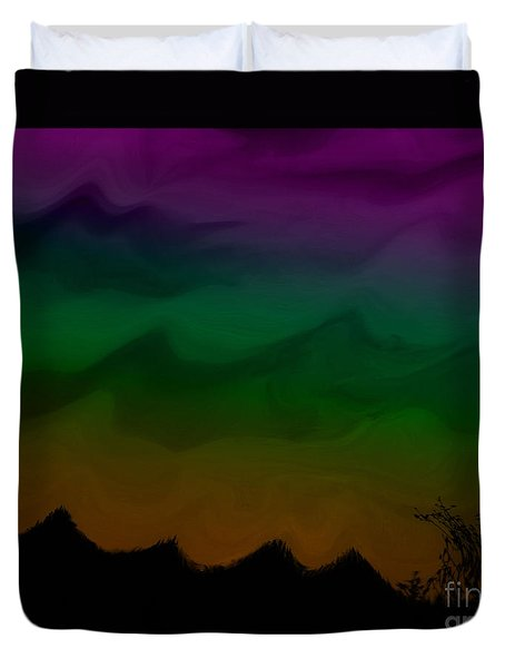 Colors At Dusk2 Duvet Cover