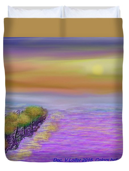 Colors Before Sunset Duvet Cover