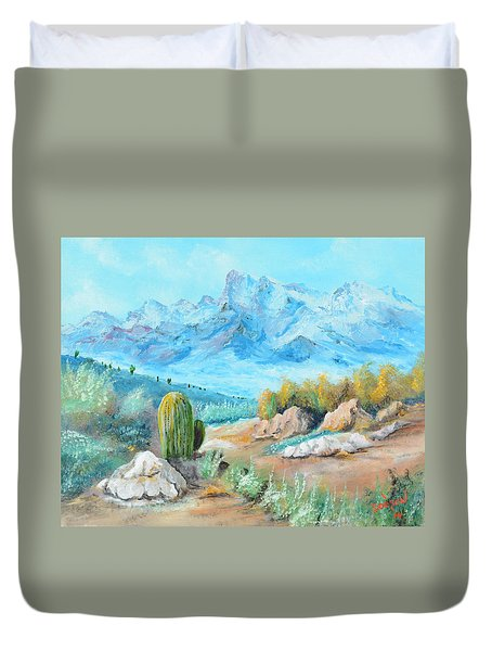 Colors In The High Desert Duvet Cover