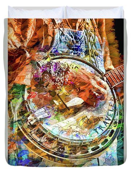 Colors Of A Banjo Busker Duvet Cover