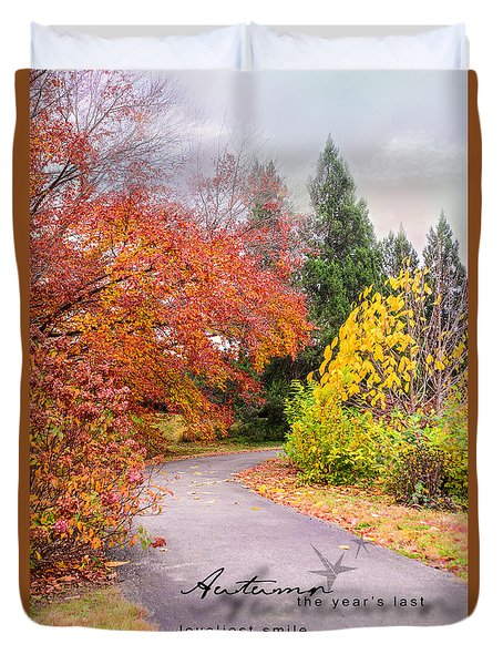 Duvet Cover featuring the photograph Colors Of Autumn by Mary Timman