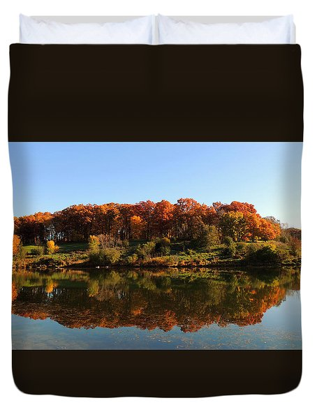 Colors Of Autumn Duvet Cover by Teresa Schomig