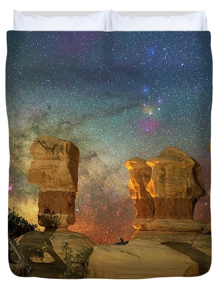 Colors Of Darkness Duvet Cover