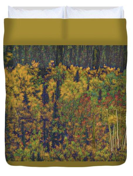 Colors Of Denali Duvet Cover