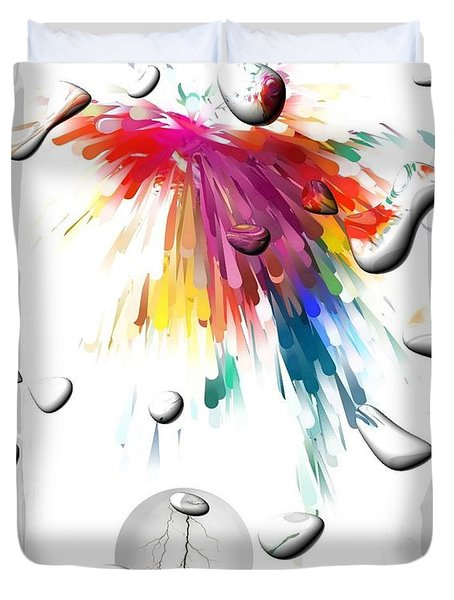 Colors Of Explosions By Nico Bielow Duvet Cover by Nico Bielow