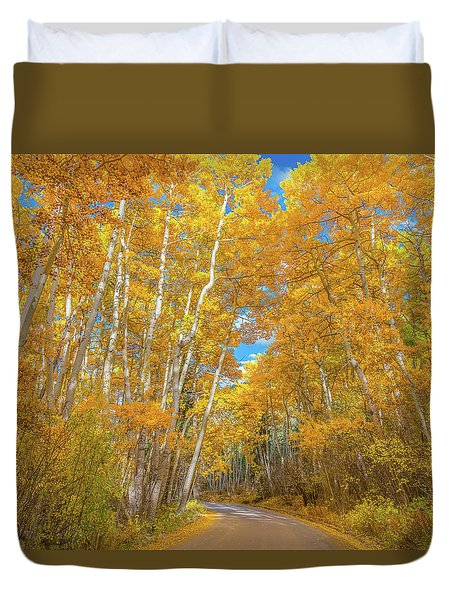 Duvet Cover featuring the photograph Colors Of Fall by Darren White