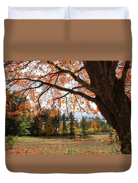 Colors Of Fall Duvet Cover by Lois Lepisto
