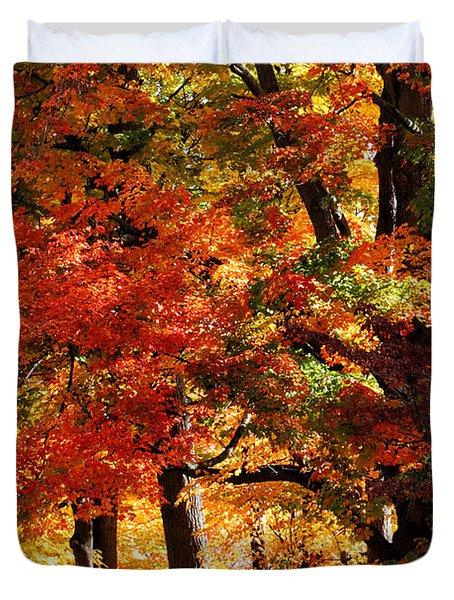 Colors Of Fall Duvet Cover