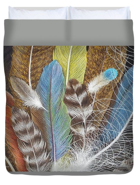 Colors Of Flight Duvet Cover
