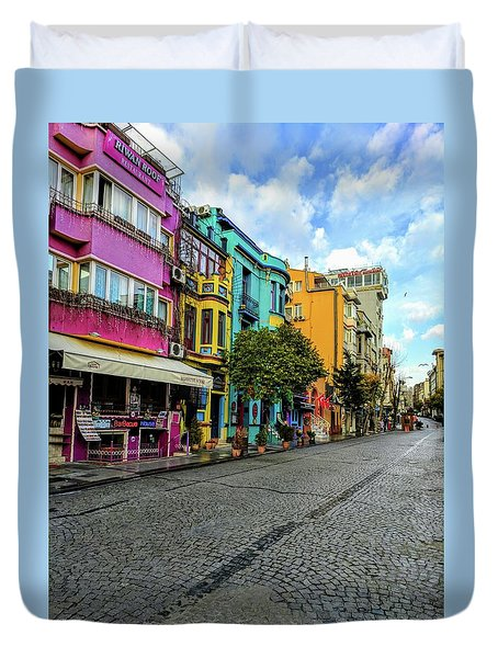 Colors Of Istanbul Duvet Cover