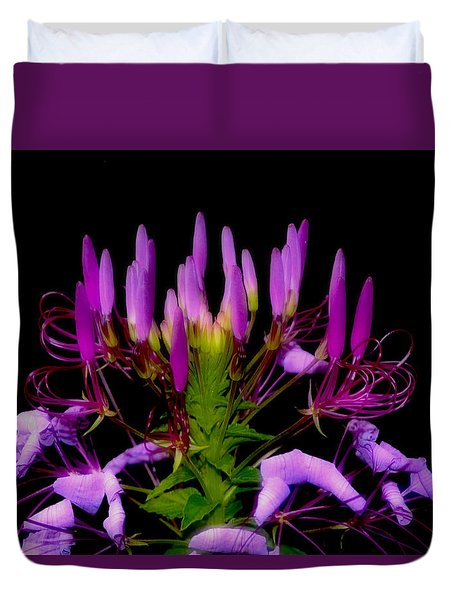 Duvet Cover featuring the photograph Colors Of Nature - Lavender 001 by George Bostian