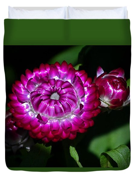 Duvet Cover featuring the photograph Colors Of Nature - Strawflower 005 by George Bostian
