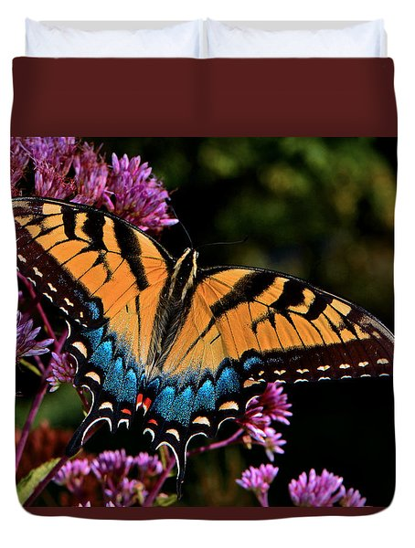Colors Of Nature - Swallowtail Butterfly 004 Duvet Cover by George Bostian