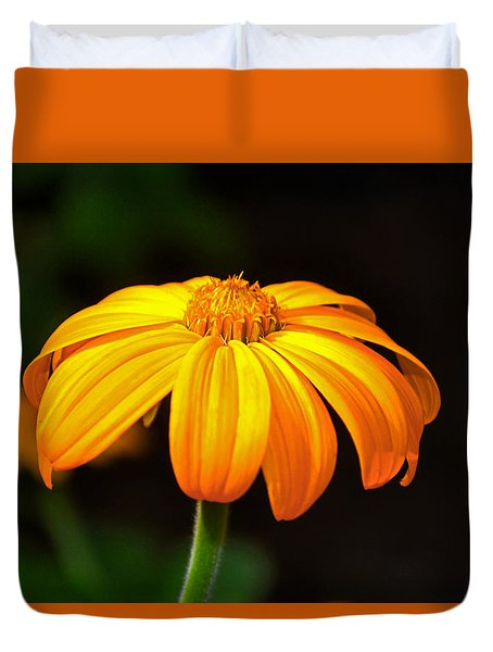 Duvet Cover featuring the photograph Colors Of Nature - Yellow Flower 020 by George Bostian