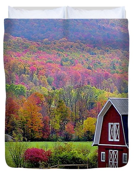 Colors Of New England Duvet Cover by Rick  Monyahan