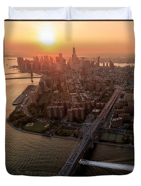 Duvet Cover featuring the photograph Colors Of Ny by Anthony Fields