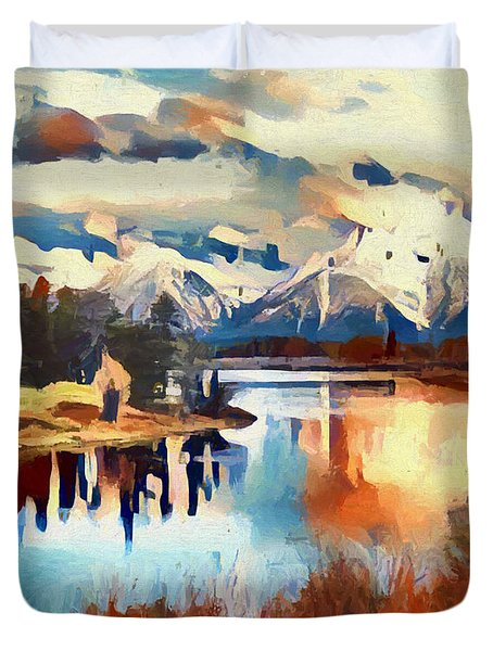 Colors Of Oxbow Bend Duvet Cover